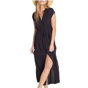 Billabong Black Little Flirt Maxi Dress SZ Med.